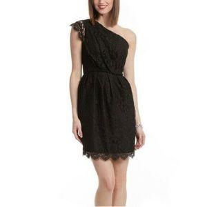 Shoshanna Verona Lace one shoulder lace dress 10
